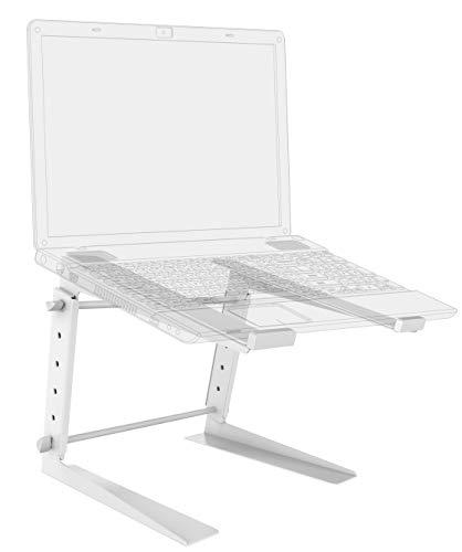 RICOO LS01-W Laptop-Ständer Höhenverstellbar Tisch-Stand Notebook 15-17 Zoll DJ Mischpult Halterung Universal Bildschirm-Erhöhung Weiß