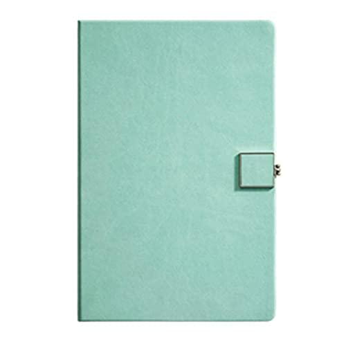 Cuadernos Cuaderno para trabajos autoayuda cuadernos Cuaderno Cuaderno Simple Cuenta Mano Sólido Color Magnético Hebilla magnética Espesado Diario de negocios Diario (Color : Green)