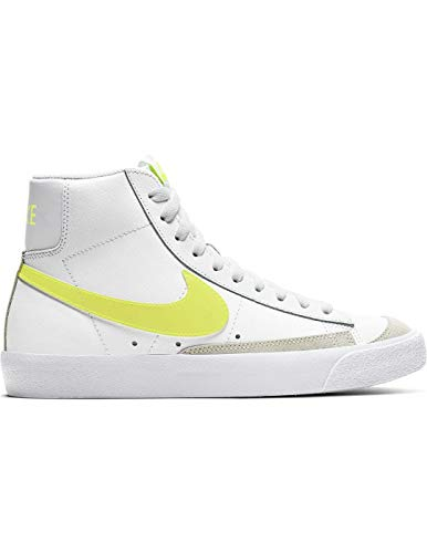 Nike Blazer Mid 77 White/Lemon Damen, Weiß - weiß - Größe: 39 EU