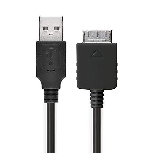 subtel® USB Kabel 1m kompatibel mit Sony Walkman NWZ-ZX2, NWZ-A15, A10, NWZ-A816, A818, NWZ-E858, NWZ-ZX1, ZX100 Ladekabel Walkman Connector auf USB A 2.0 Datenkabel1Aschwarz PVC