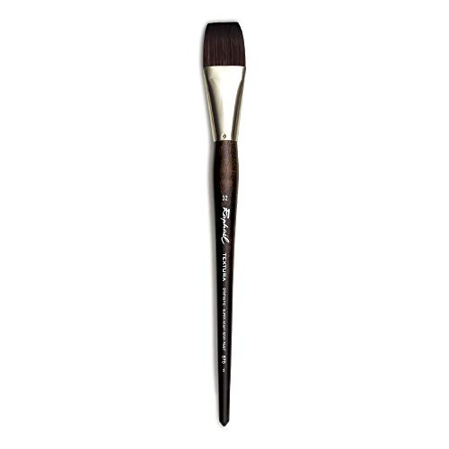 Raphael Textura Heavy Duty Synthetic, Acrylic & Thick Medium Brush, Series 870, Flat, Size 32