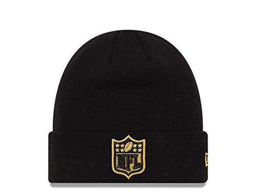 New Era NFL Shield Gold Logo Mütze - American Football - Haube - schwarz