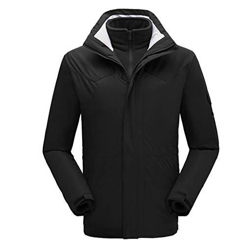 Great Deal! Hopwin Men's Mountain Waterproof Ski Jacket   3 in 1 Windproof Snow Jacket Winter Warm S...