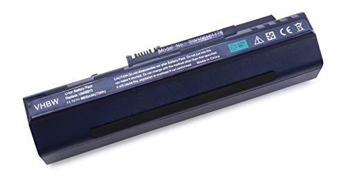 vhbw Batterie LI-ION 6600mAh 11.1V Bleu foncé Compatible pour Acer Aspire remplace LC.BTP00.017, LC.BTP00.018 etc. pour Acer Aspire A150L, A150X, D150 etc.