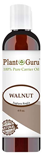 Walnut Oil 4 oz - Cold Pressed 100% Pure Natural - Skin, Body, Face, and Hair Growth Moisturizer. Great For Creams, Lotions, Lip balm and Soap Making