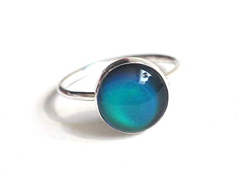 Medium Stacking Mood Ring in Sterling Silver