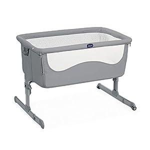Chicco Next 2 me - Cuna de colecho con fácil apertura lateral, anclaje a cama y 6 alturas, color gris (Pearl)