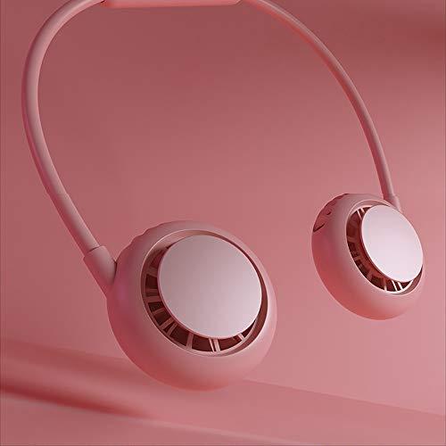 DODOBD Ventilador Colgante de Cuello 2020 Nuevo Ventilador de refrigeración USB Mini Ventilador eléctrico pequeño Ventilador portátil pequeño(Rosa Negro)