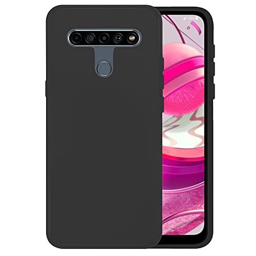 TBOC Funda de Gel TPU Negra Compatible con LG K61 - LG Q61 [6.53 Pulgadas] Carcasa de Silicona Ultrafina y Flexible para Teléfono Móvil