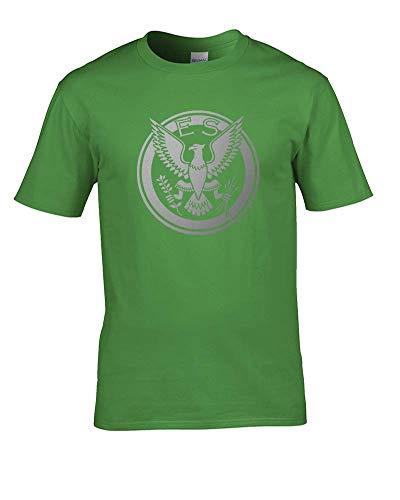 Ice-Tees- Eagle Squadron RAF Badge Logo - Camiseta para hombre Verde verde lima L