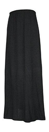 Ozmoint - Gonna lunga lunga per bambini, con elastico in vita modesta, Abaya Stretch (13 colori 7-13 anni) Nero 7-8 Anni