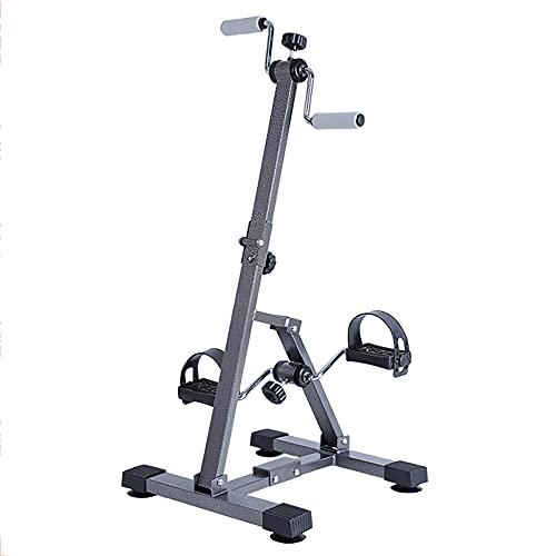 Entrenador de Pies y Manos, bicicleta de rehabilitación ajustable con resistencia variable, equipo de fitness para personas mayores y ancianos/Black / 90.5x42.5x40.5cm