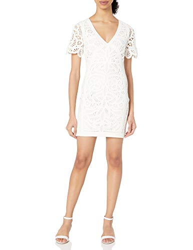 French Connection Women's MESI Macrame Jersey Dress