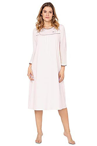 e.FEMME Damen Nachthemd Nicole 42 aus Viskose/Elasthan (Lachs/Taupe, 42)