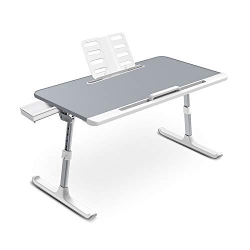 Xin Hai Yuan Laptop Bed Tray Desk, Adjustable Laptop Stand for Bed, Foldable Laptop Table with Storage Drawer for Eating, Working, Writing, Gaming, Drawing (Gray, X-Large)