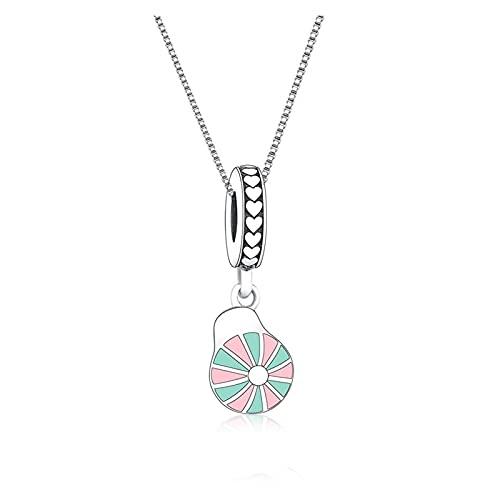 JIAQ 925 Sterling Silve Rosa Esmalte de Béisbol Sombrero de Béisbol Collar Collar Colgante para Mis Mujeres Mujeres Cadena de Regalo Changker Kid Bijoux 2021