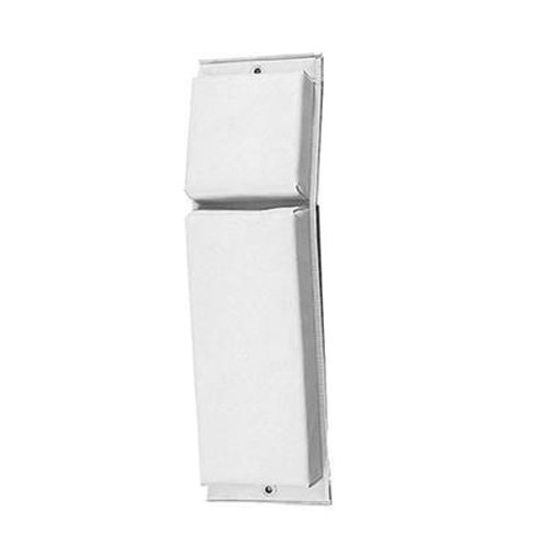 Norestar Contour Boat Fender/Bumper, Hinged, 24-Inches by 6-Inches by 2-1/2-Inches, White