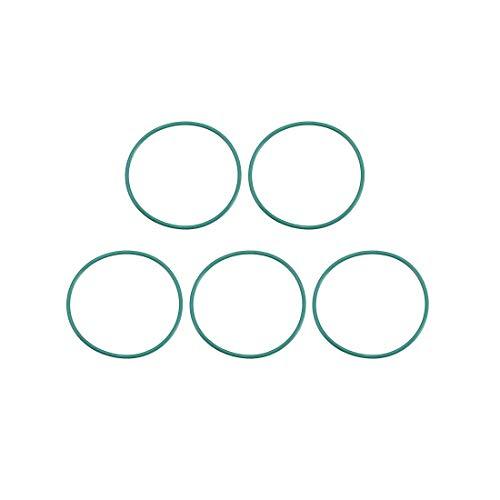 Juntas tóricas de goma fluorada YeVhear, 26 mm OD 24 mm ID 1 mm de ancho, junta de sellado FKM para fontanería de máquinas, verde, paquete de 5