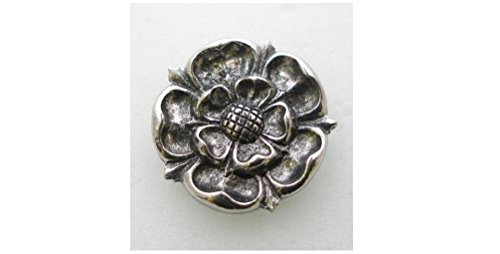 Tudor Rose Pin Badge in Fine Eng...