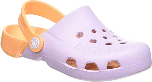 crocs Unisex Kids Electro Clogs, Lavender/Cantaloupe, 29/30 EU