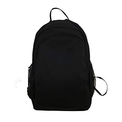 MH-RING Escolares Bolso de Escuela Adolescente Mochila Hombre Mochila Mujer, Mochila antirrobo Impermeable,Mochila para portátil Multiusos Daypacks (15,6') (Color : Black, Size : 36 * 19 * 44cm)