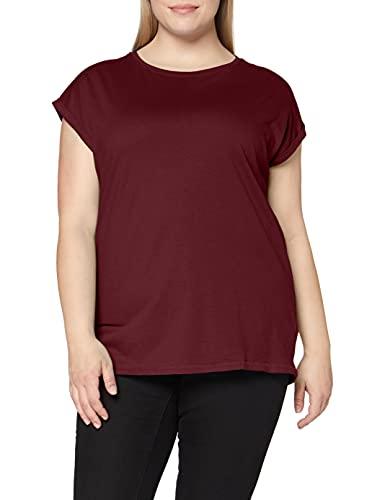 Urban Classics Ladies Extended Shoulder Tee Maglietta a Maniche Corte, T-Shirt Oversize con Spalle Scoperte, 100% Cotone Jersey, Abbigliamento Casual, Cherry, S Donna