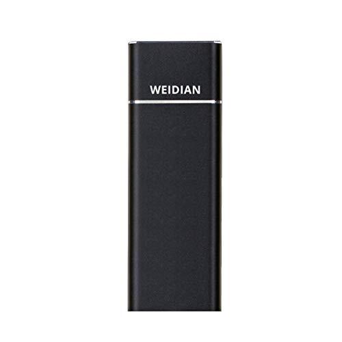 WEIDIAN 512 GB Tragbare Externe SSD USB 3.1-Hochgeschwindigkeits-Lese- und Schreibzugriff auf bis zu 400 M/s und 300 M/s Externen Speicher Ultraflaches Solid-State-Laufwerk für PC-Desktop-Laptop
