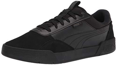 PUMA Men's C-Skate Sneaker, Black Black, 10
