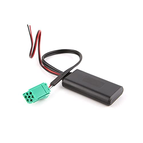 Qinndhto Coche Bluetooth-Compatible Auxiliar Adaptador de Radio inalámbrico estéreo Auxiliar Cable Apto para Adaptadores