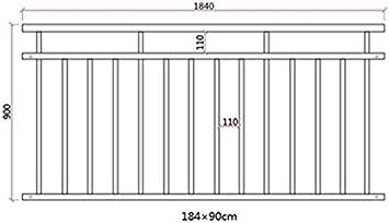 Gr/ö/ße:225 x 90 cm V2Aox Franz/ösischer Balkon Gel/änder Balkongel/änder 90 x 100-225 cm Schwarz Wei/ß Anthrazit Farbe:Anthrazit