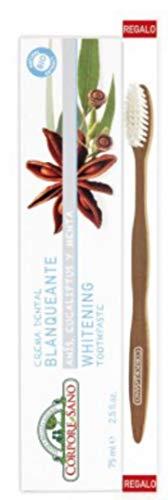 Corpore Sano - Crema Dental Blanqueante + Cepillo Dental Bambu De Regalo