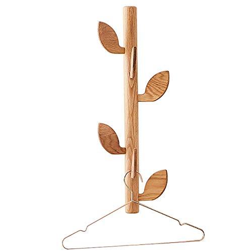 ZXL kapstok houten haken aan de muur AST hangende opbergdoos ingang (kleur: bruin, maat: 20x85 cm)