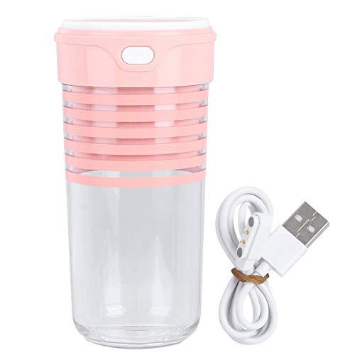 Licuadora personal, mini licuadora con USB recargable para batidos, jugo de frutas, batidos de leche(Rosado)
