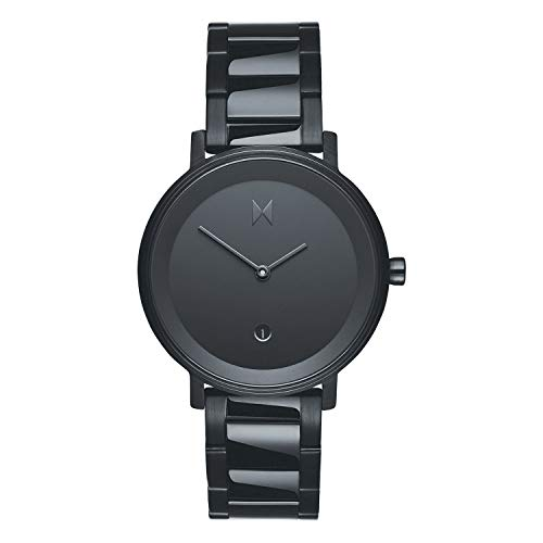 MVMT Damen Analog Quarz Uhr mit Edelstahl Armband D-MF02-BL