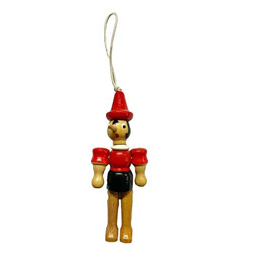 GICO Pinocchio Gelenkfigur aus Holz mit Gummiband, Länge 10 cm- Made in Italy- 9009