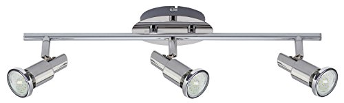 Trango 3-flammig LED Deckenleuchte inkl. 3,0 Watt GU10 LED Leuchtmittel 3000K Warm-Weiß, Deckenstrahler m. Gelenken TG2890-038