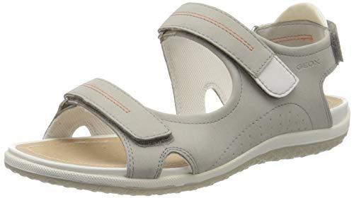 Geox D Vega A, Sandali con Cinturino alla Caviglia Donna, Grigio (Grey C1006), 40 EU