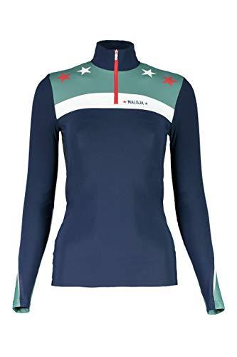 Maloja mikkelim Multisport Shirt, Damen XS blau (Mountain Lake)