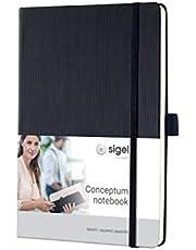 SIGEL CO121 notatnik ok. A5, w kratkę, twarda okładka, czarna, 194 strony, Conceptum - inne kolory