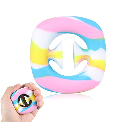 SOFTWIND Snap Sensory Toys, Funny Suction Cup, Stress Relief Toy, Click Finger ,Sensory Sensory Toys, Silicone Push Toy, Noise Making Squeeze Toy, Party Popper Noise Maker for Children