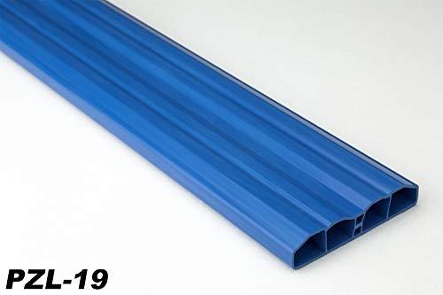 Zaunlatten Sparpaket PZL-19   widerstandsfähiges Hart-PVC   Kunststoffzaun   Balkonbretter   pflegeleicht   blau bunt   80 x 16 mm   Hexim   100 Meter