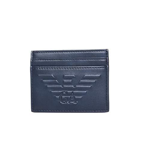 Emporio Armani tarjetero para tarjetas de crédito hombre nuevo blu