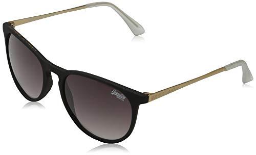 Superdry ELLEN Gafas, Rubberised Black/Gold, OS para Mujer
