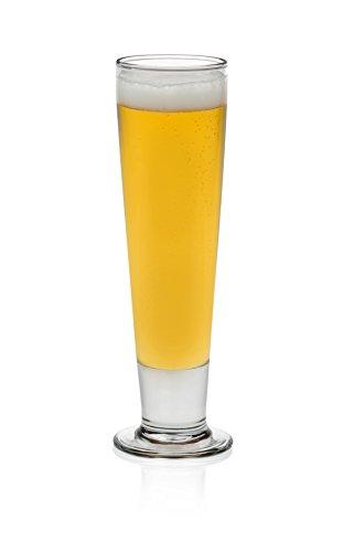 Libbey Stockholm Pilsner Beer Glasses, Set of 4
