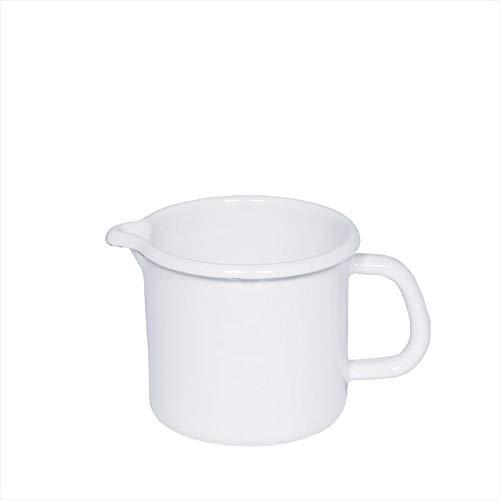 Riess- Schnabeltopf - Milchtopf - Emaille - weiß - Ø 9cm - 0,5 Liter