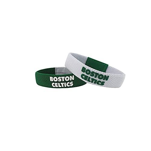 YZDMC Exquisito Celtics 2 Pieza Pulsera de Silicona Estrella de Baloncesto Baloncesto Deportes Pulsera Deportiva Muñequera Tendencia -13444