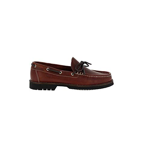 Fluchos - Zapatos náuticos burdeos en piel