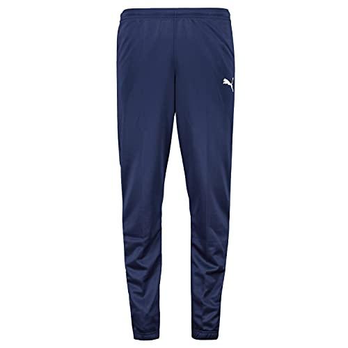 PUMA Jungen Jogginghose Teamrise Poly Training Pants J, Black White, 140, 657391