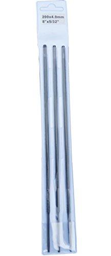 Rotatech - Juego de 3 limas de Motosierra para afilar Cadenas Husqvarna (4 mm)