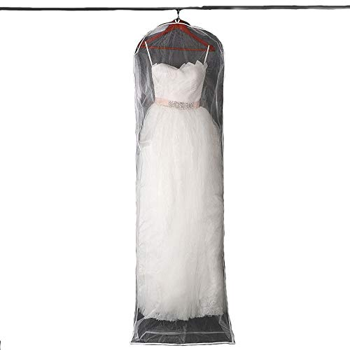 Clear Lightweight Garment Bags Wedding Gown Travel and Storage Protector Cover for Long Dresses Wedding Gown Suits,180cm/71inch